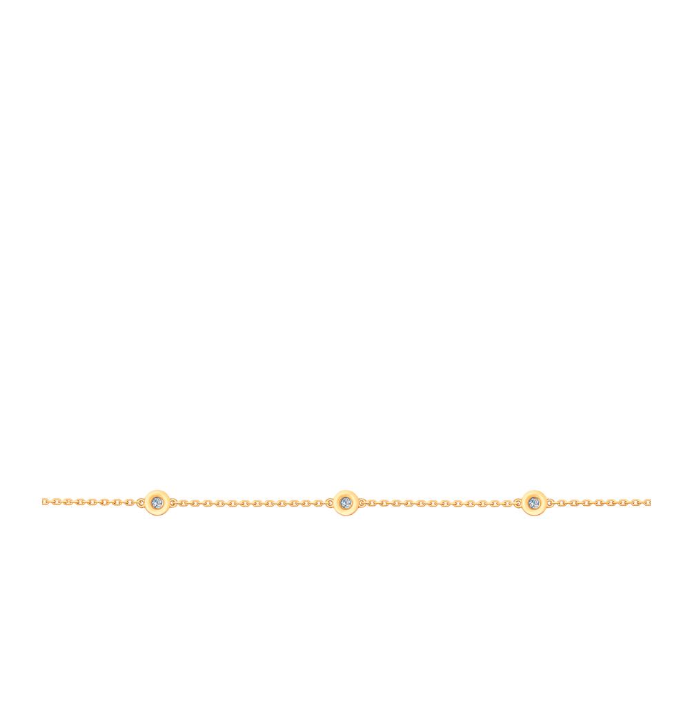 золотой браслет с бриллиантами SOKOLOV 1050108