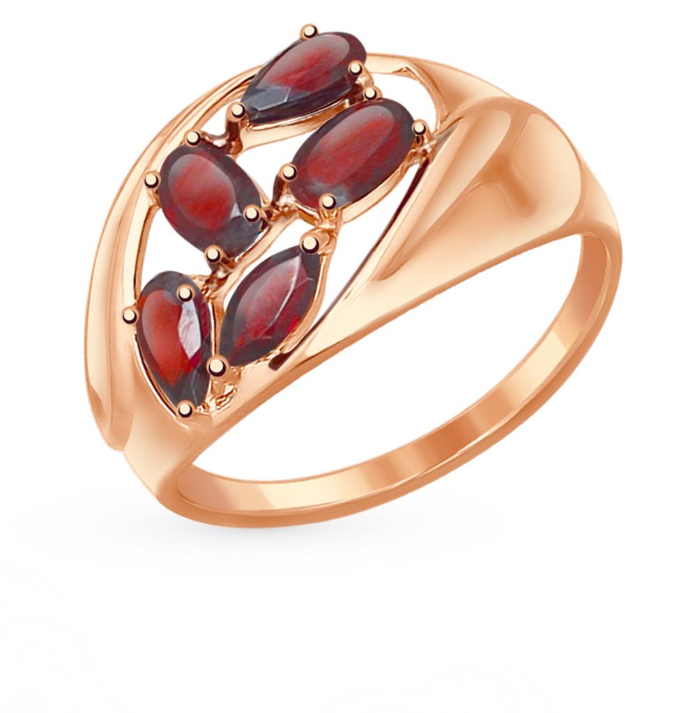 Фото «Золотое кольцо с гранатом SOKOLOV 714470*»