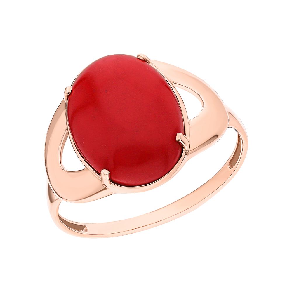 Серебряное кольцо с кораллами имитациями в Екатеринбурге