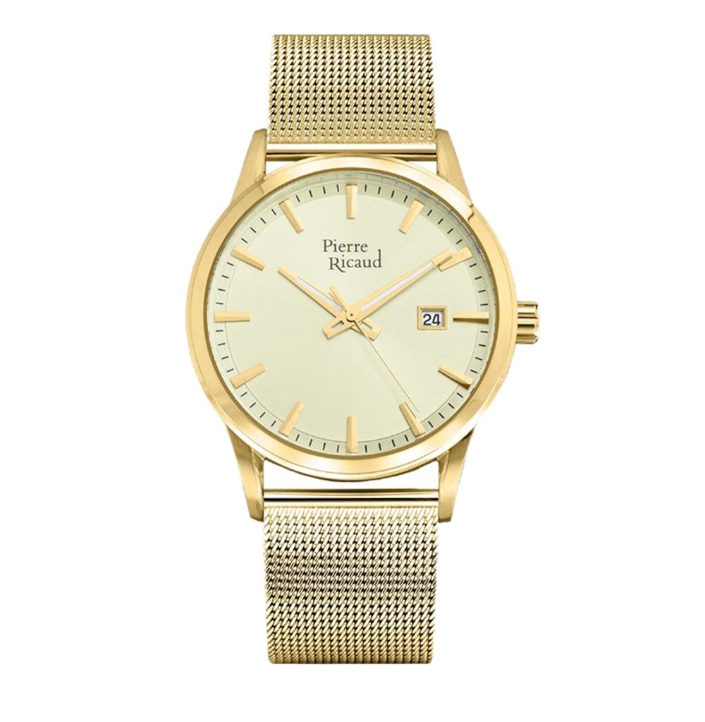 Мужские часы P97201.1111Q на стальном браслете с PVD покрытием с минеральным стеклом