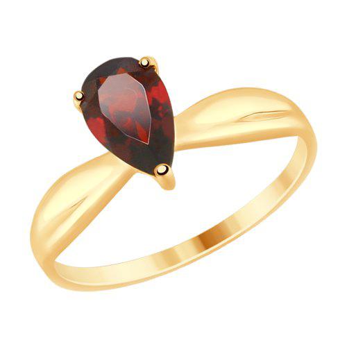 Фото «Золотое кольцо с гранатом SOKOLOV 714920*»