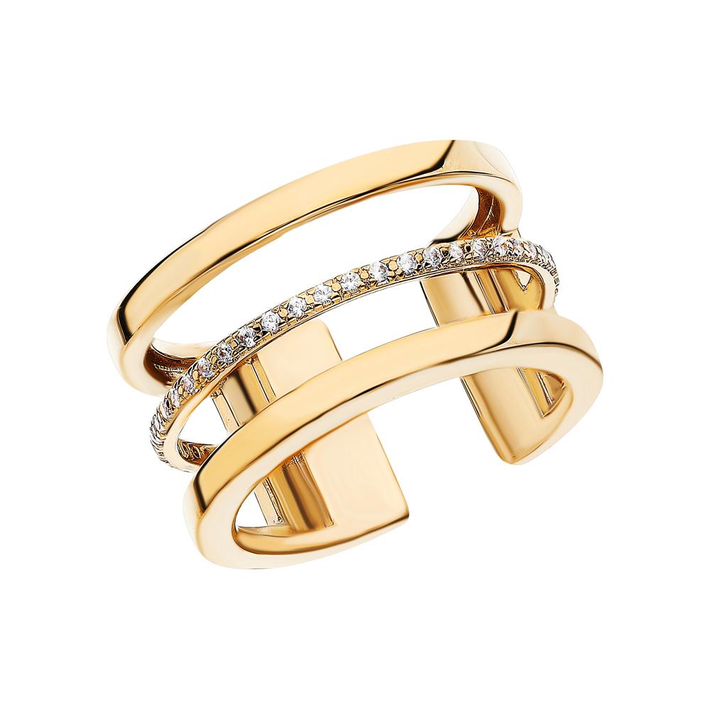 Фото «Стальное кольцо с кубическими циркониями»