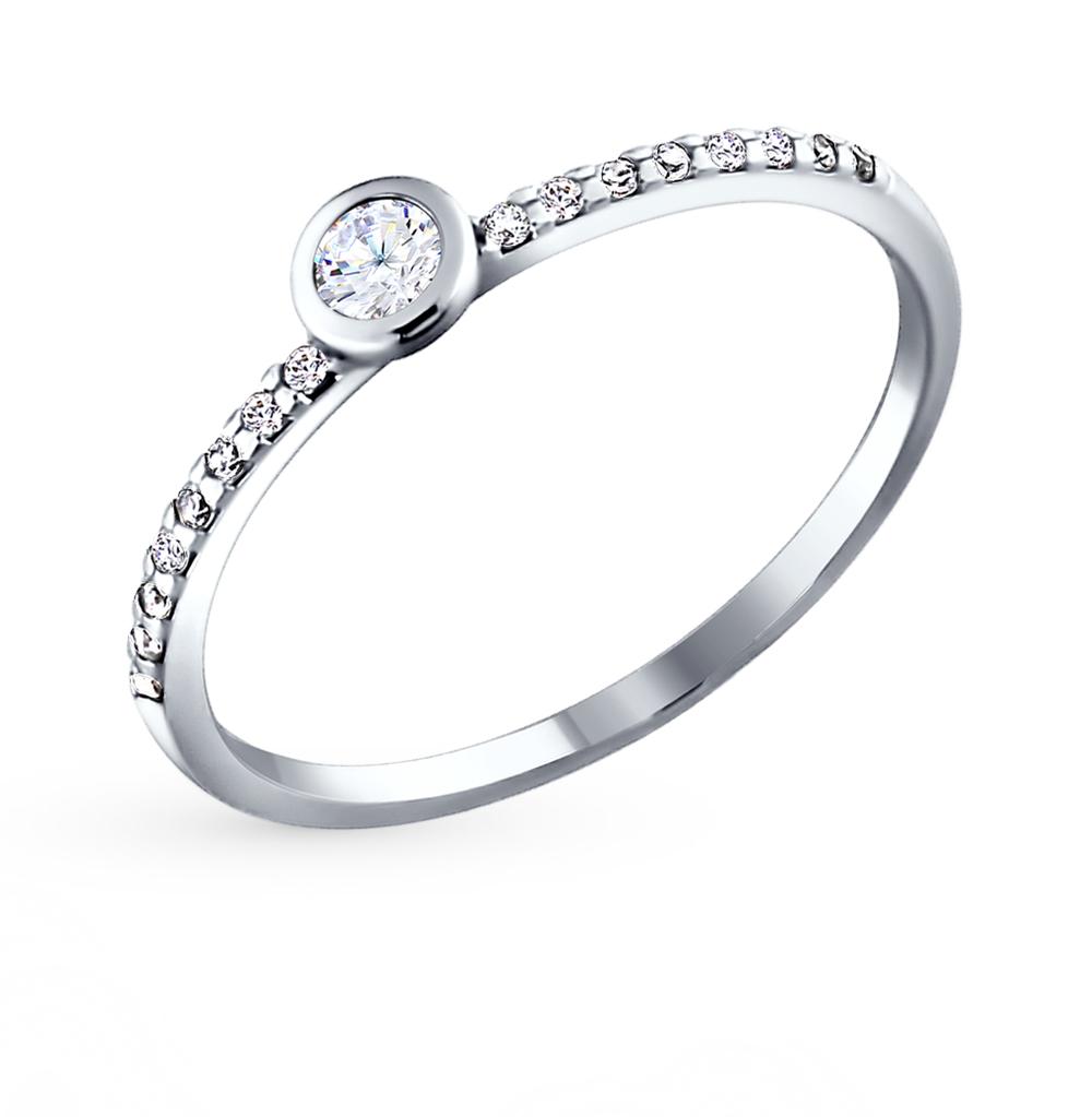 Фото «Серебряное кольцо с фианитами SOKOLOV 94010629»