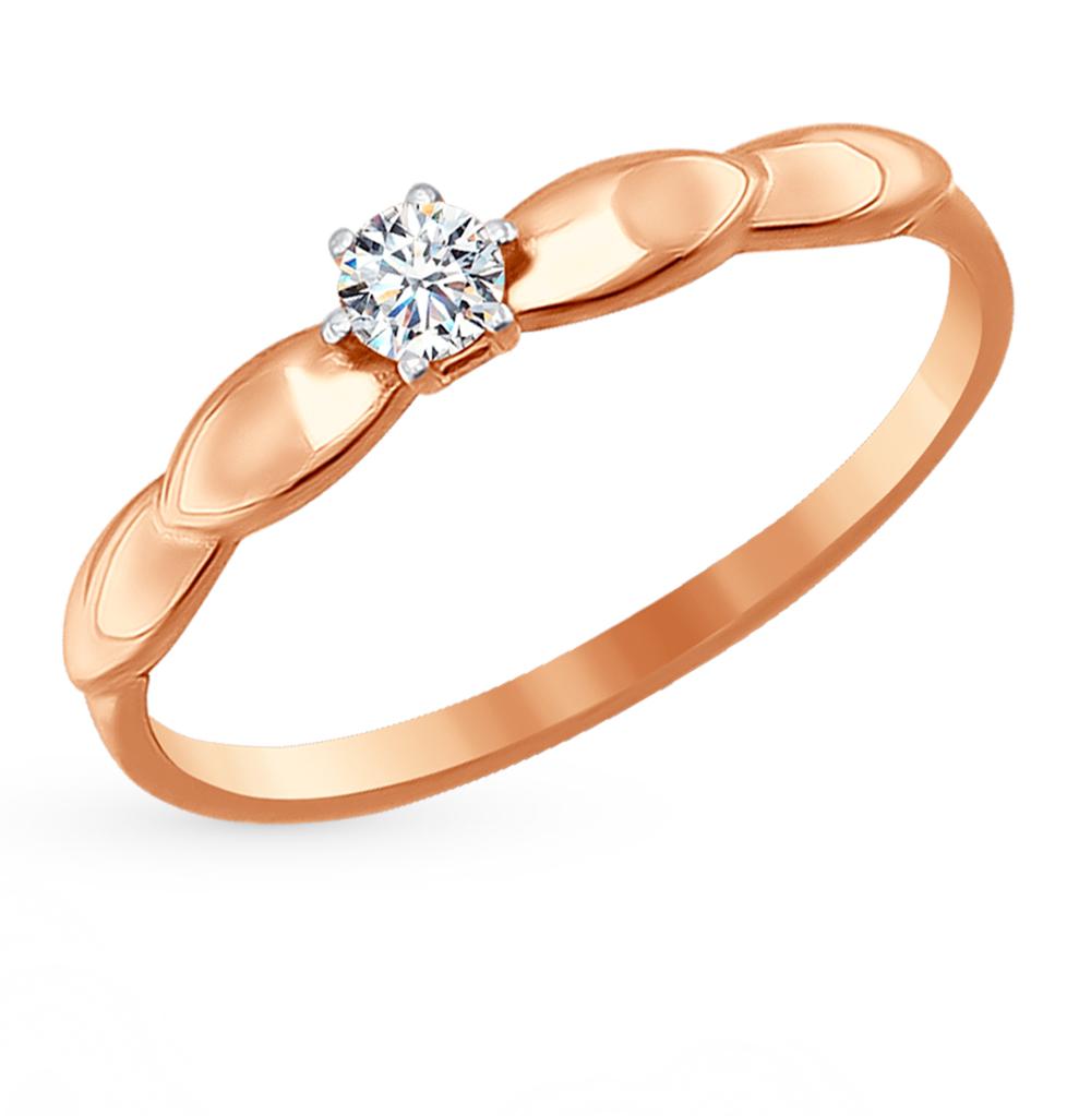 Золотое кольцо с фианитами SOKOLOV 016702* в Екатеринбурге