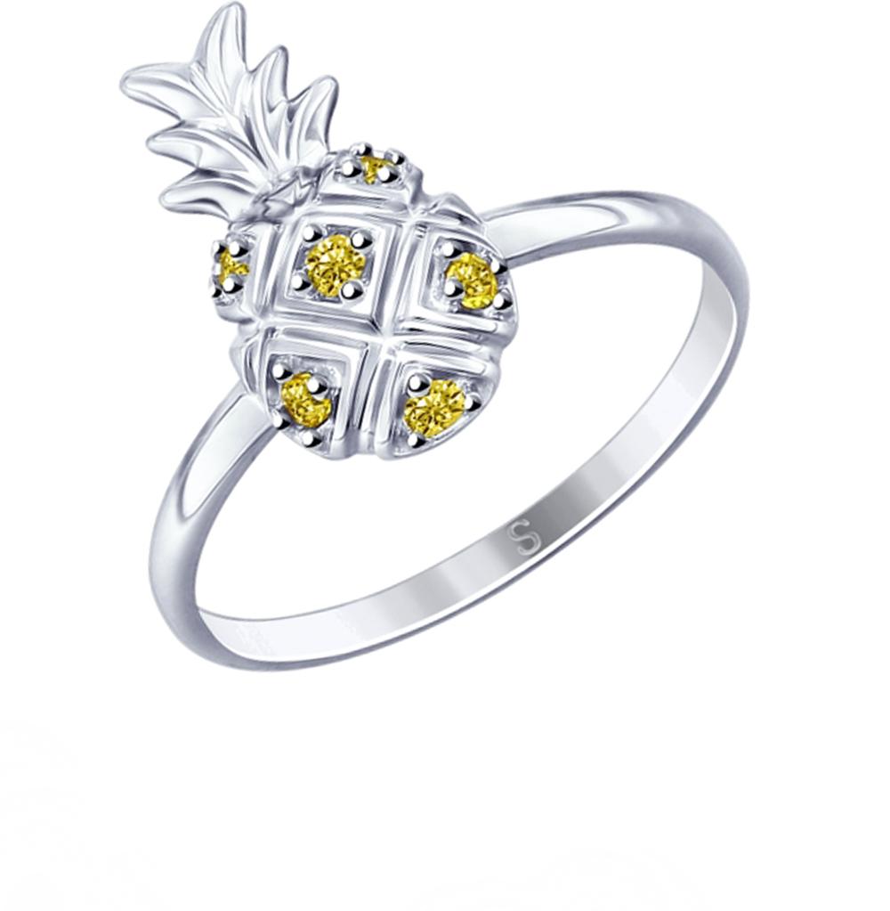 серебряное кольцо с фианитами SOKOLOV 94012766