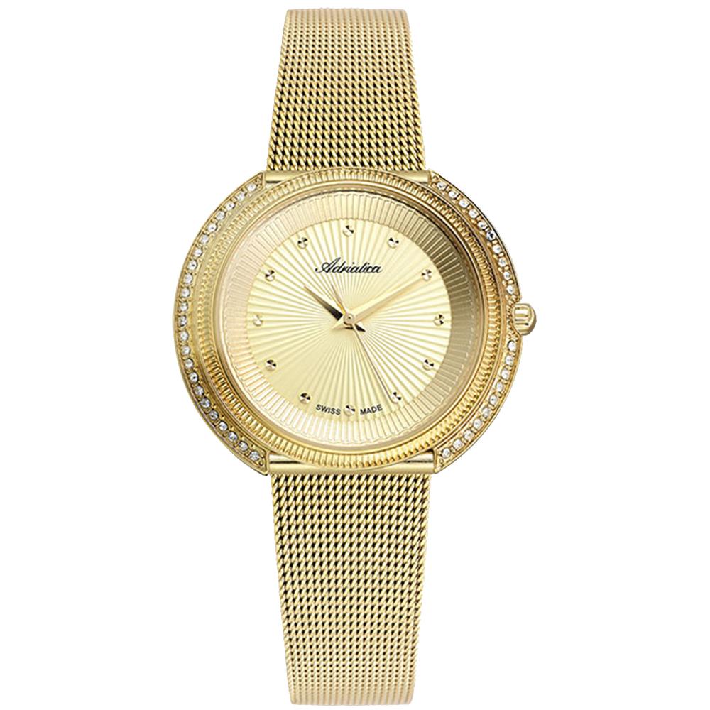 Фото «Женские часы A3816.1141Q на стальном браслете с PVD покрытием с минеральным стеклом»
