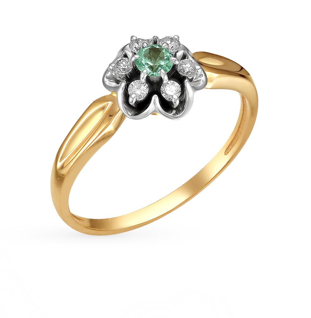 Золотое кольцо с изумрудами и бриллиантами в Санкт-Петербурге