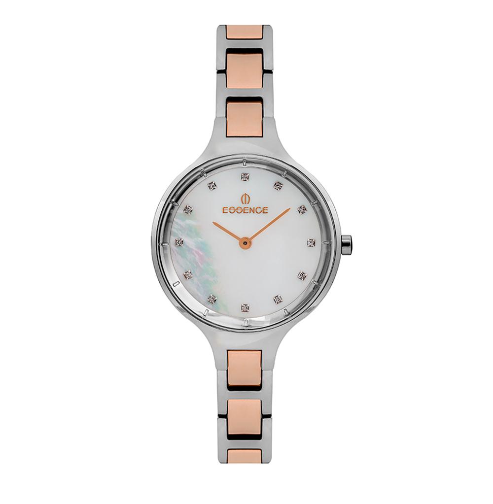 Женские часы ES6555FE.520 на стальном браслете с частичным розовым IP покрытием с минеральным стеклом в Санкт-Петербурге