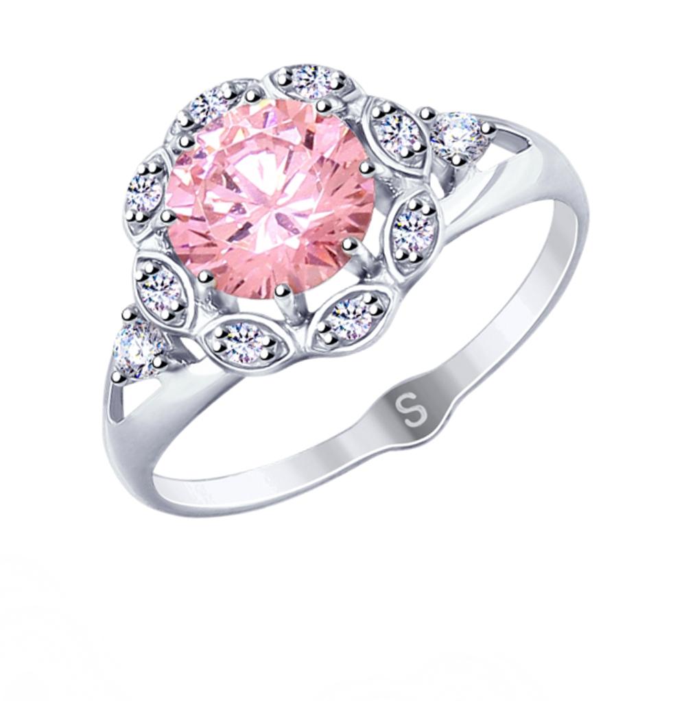 Серебряное кольцо с фианитами SOKOLOV 94012759 в Санкт-Петербурге