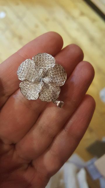 Серебряная подвеска цветок