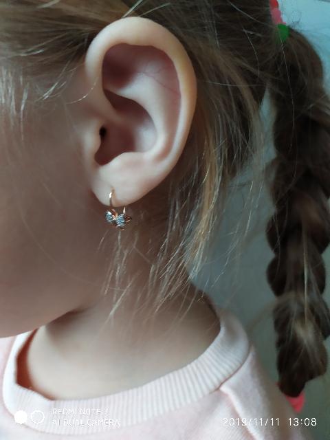 Серёжки для маленьких принцесс