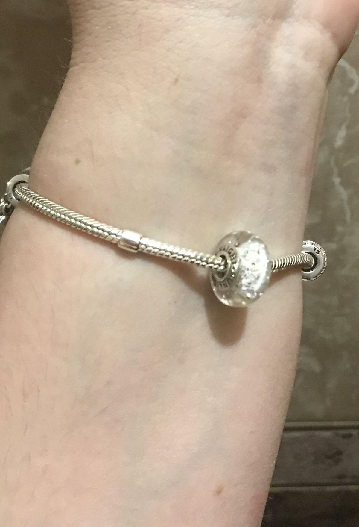 Серебряный браслет для шармов