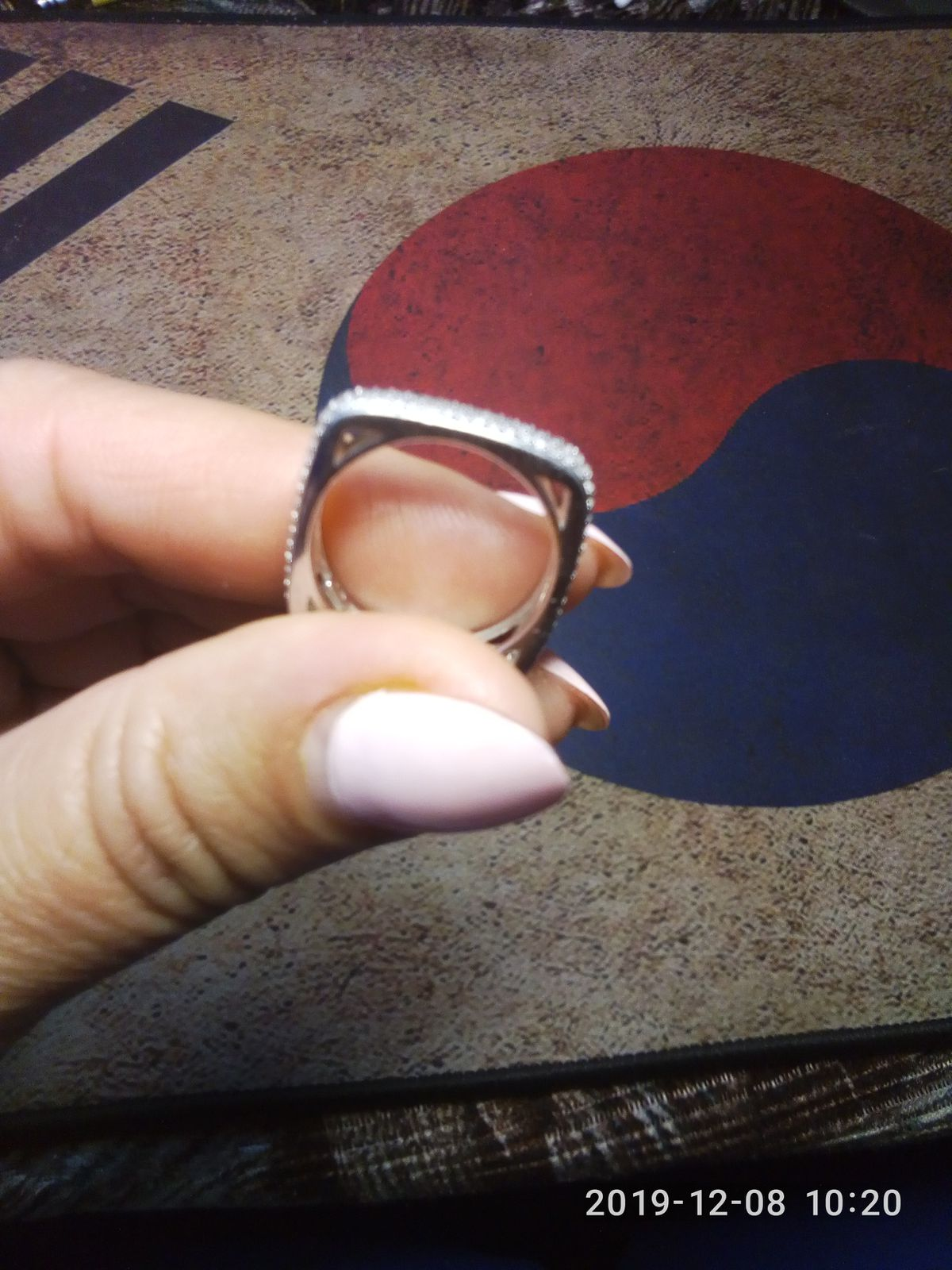 Кольцо серебрянное с фианитами