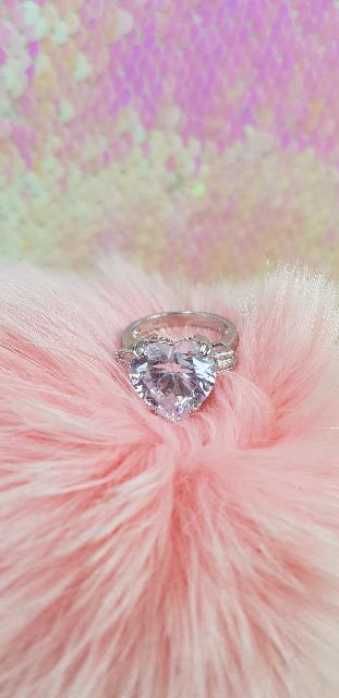 Серебряное кольцо -сердце♡