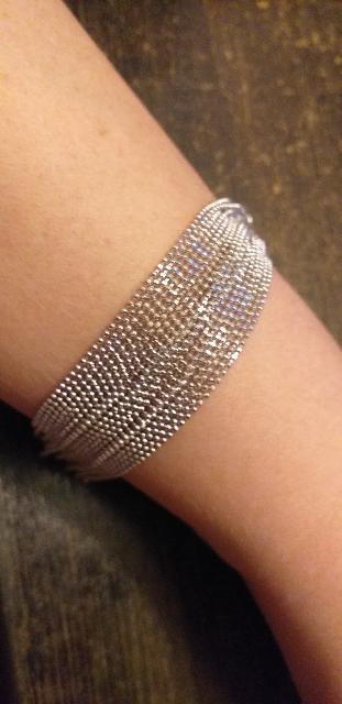 Серебряный многослойный браслет