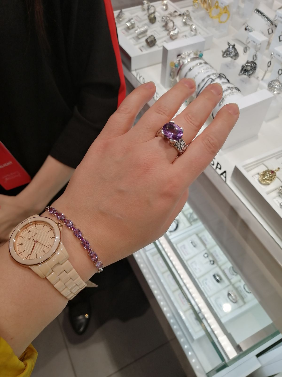 Кольцо с аметистом Liberi