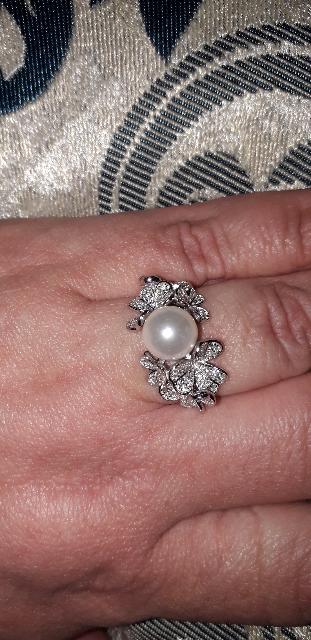 Кольцо- серебрянный цветок!