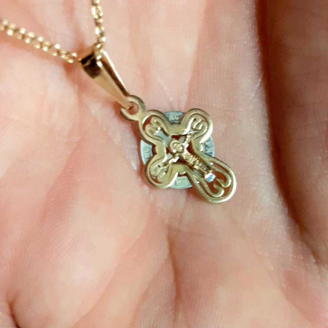 Золотой крестик!