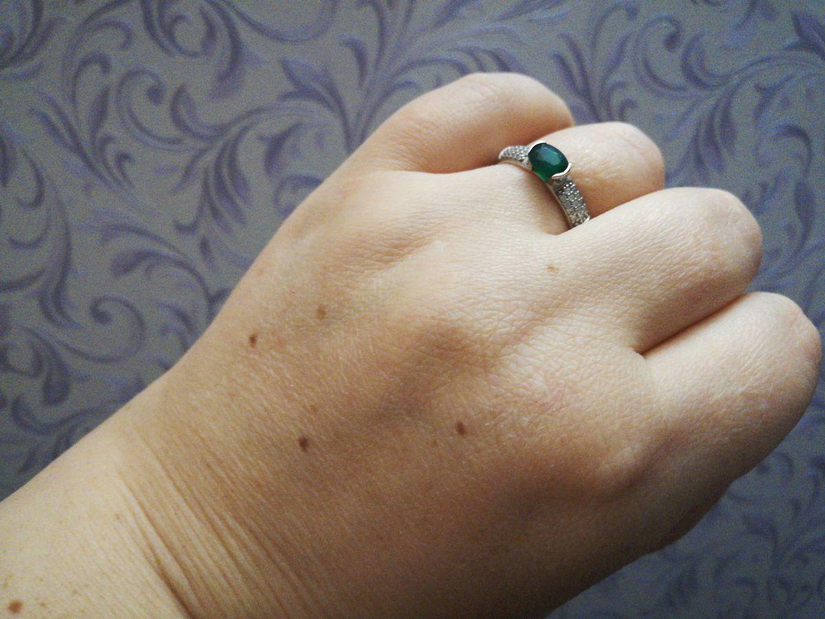Кольцо с агатом