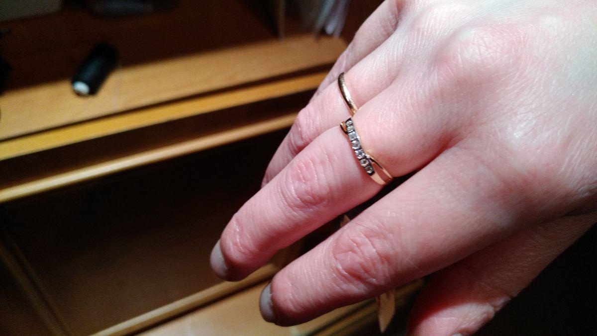 Кольцо с фианитоми