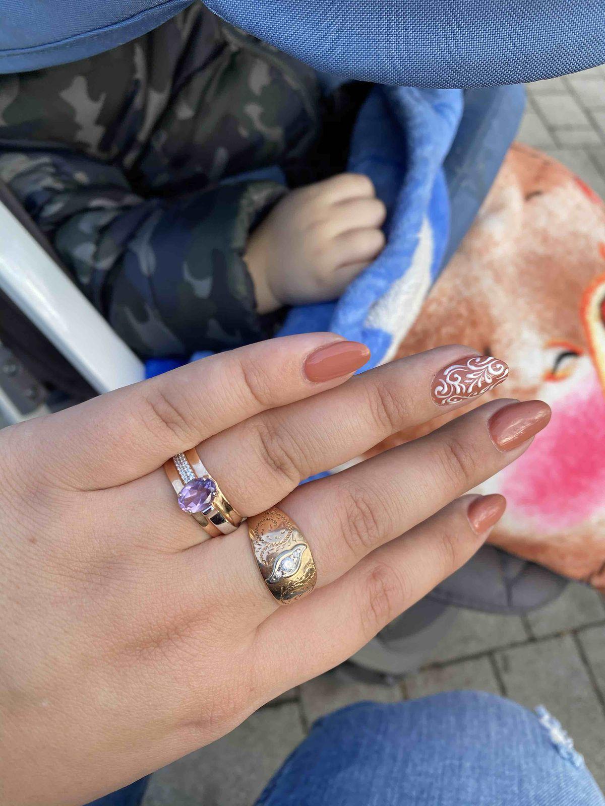 Золотое кольцо с аметистом. Всегда мечтала о кольце с моим камнем.