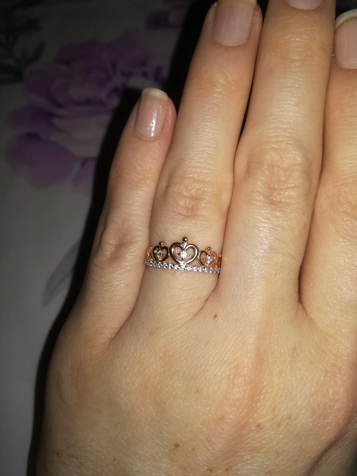 Очень красивое кольцо корона