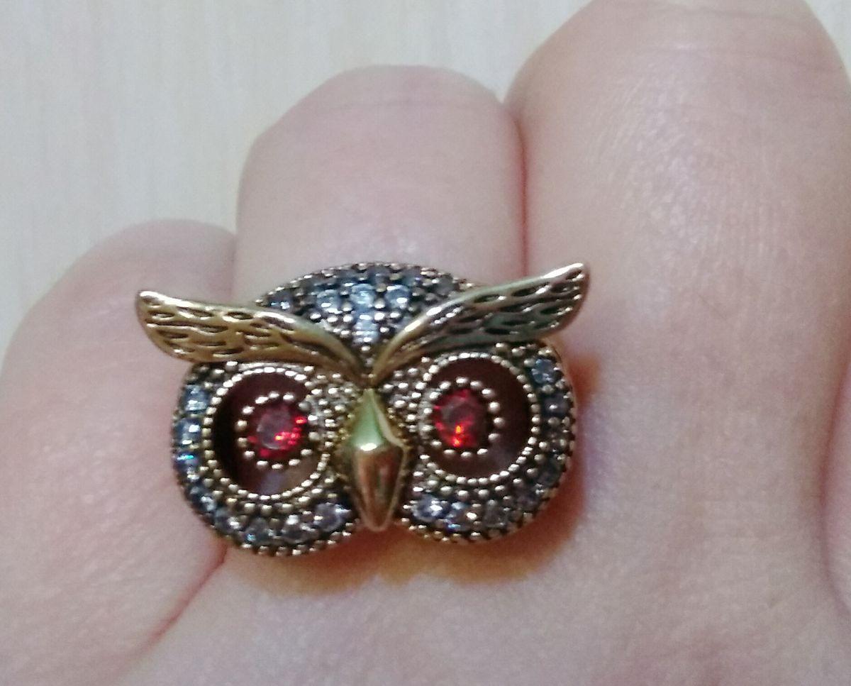 Красивое кольцо совушка