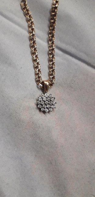 Подвеска с бриллиантами