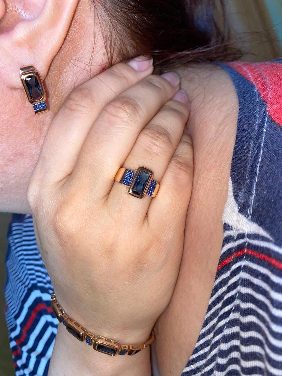 Серебряное кольцо под золото