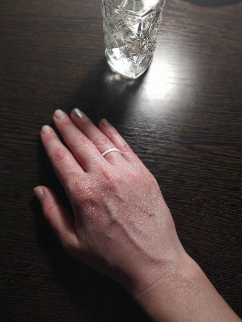 Керамические белое кольцо