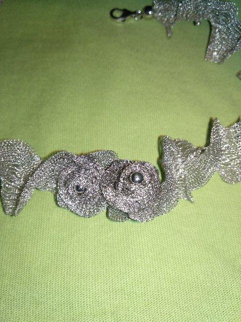 Шейное украшение серебрянное