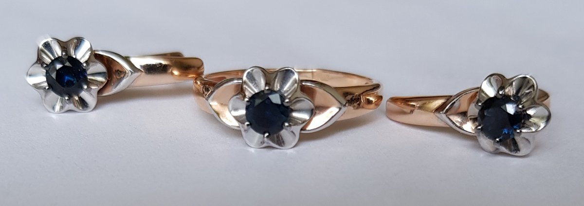 Красивые серьги и кольцо ко дню рождения