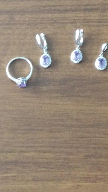 Комплект (серьги, кольцо, подвеска)