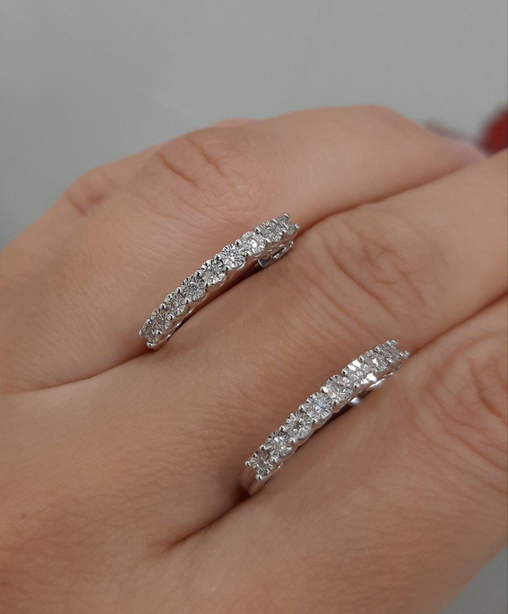 Бриллиантовые серьги кольца.