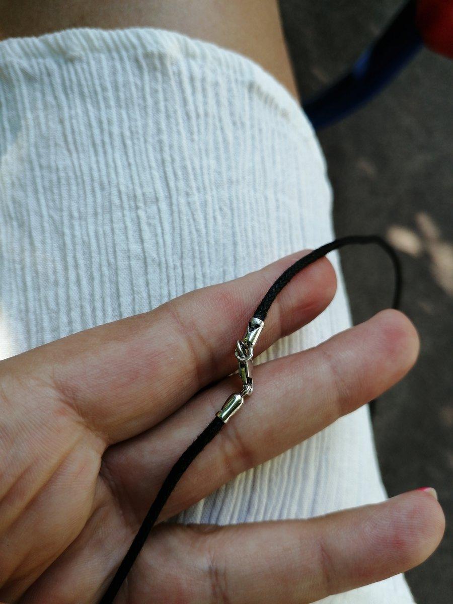 Отзыв о кожанном шнурке с серебряным замком.