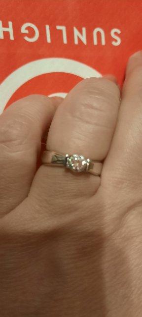 Кольцо серебро с фианитом Сваровски