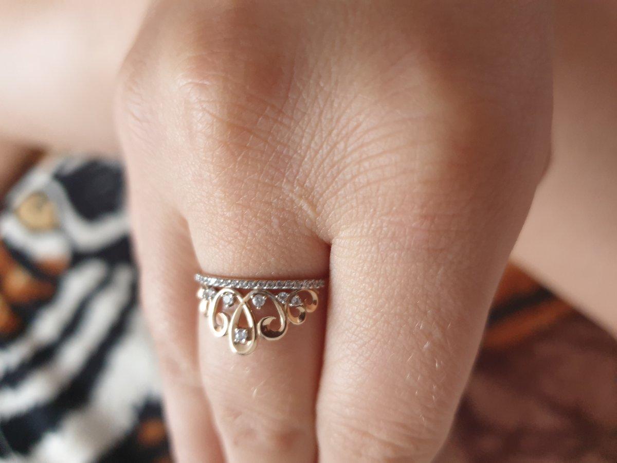 Шикарное кольцо корона