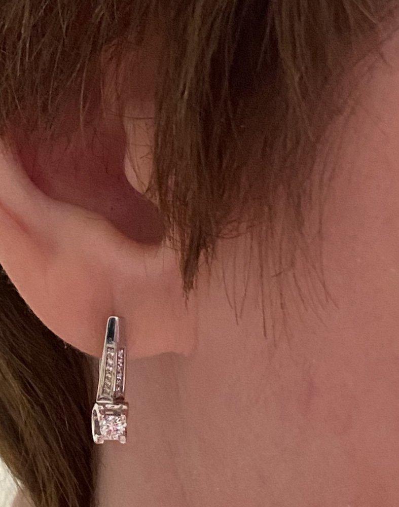 Серьги серия «бриллианты якутии»