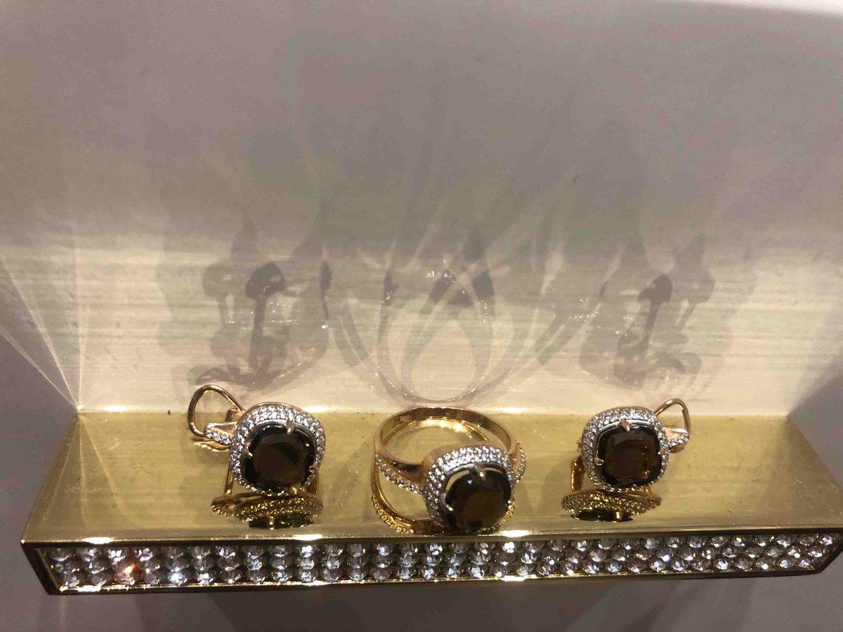 Очень красивые серьги с раухтопазом!!! От золота не отличить!