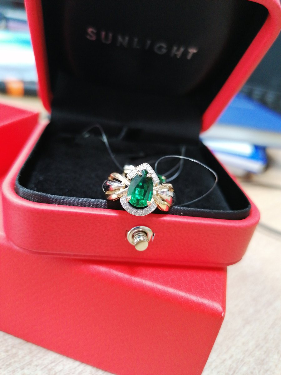 Изумруд+бриллиант