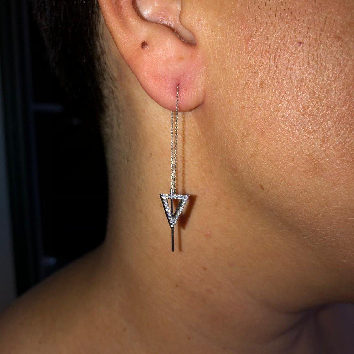Серебряные сережки-цепочка