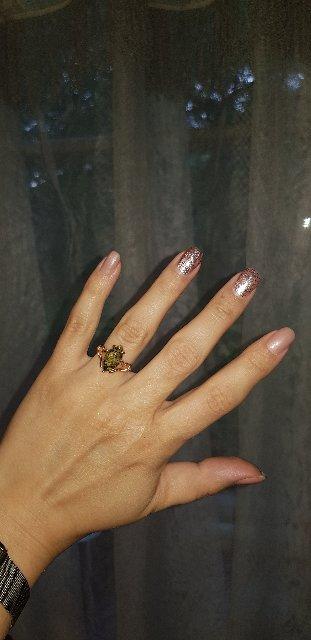 Всегда хотела кольцо с янтарём
