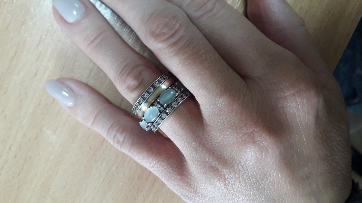 Шикарное кольцо с фанатами и кошачьим глазом