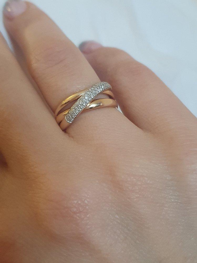 Кольцо с россыпью бриллиантиков
