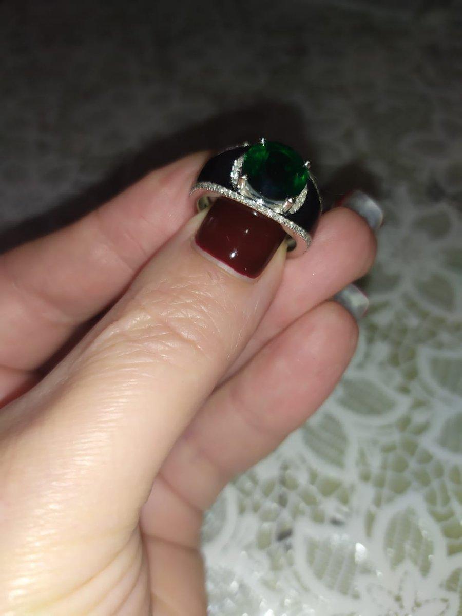 Кольцо с изумрудом!
