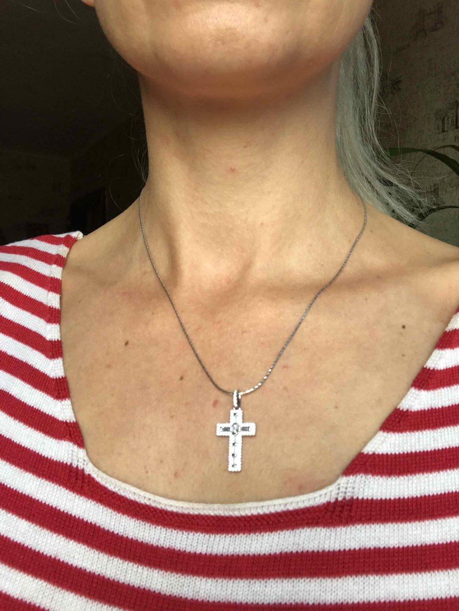 Купила себе подарок - серебряный крестик