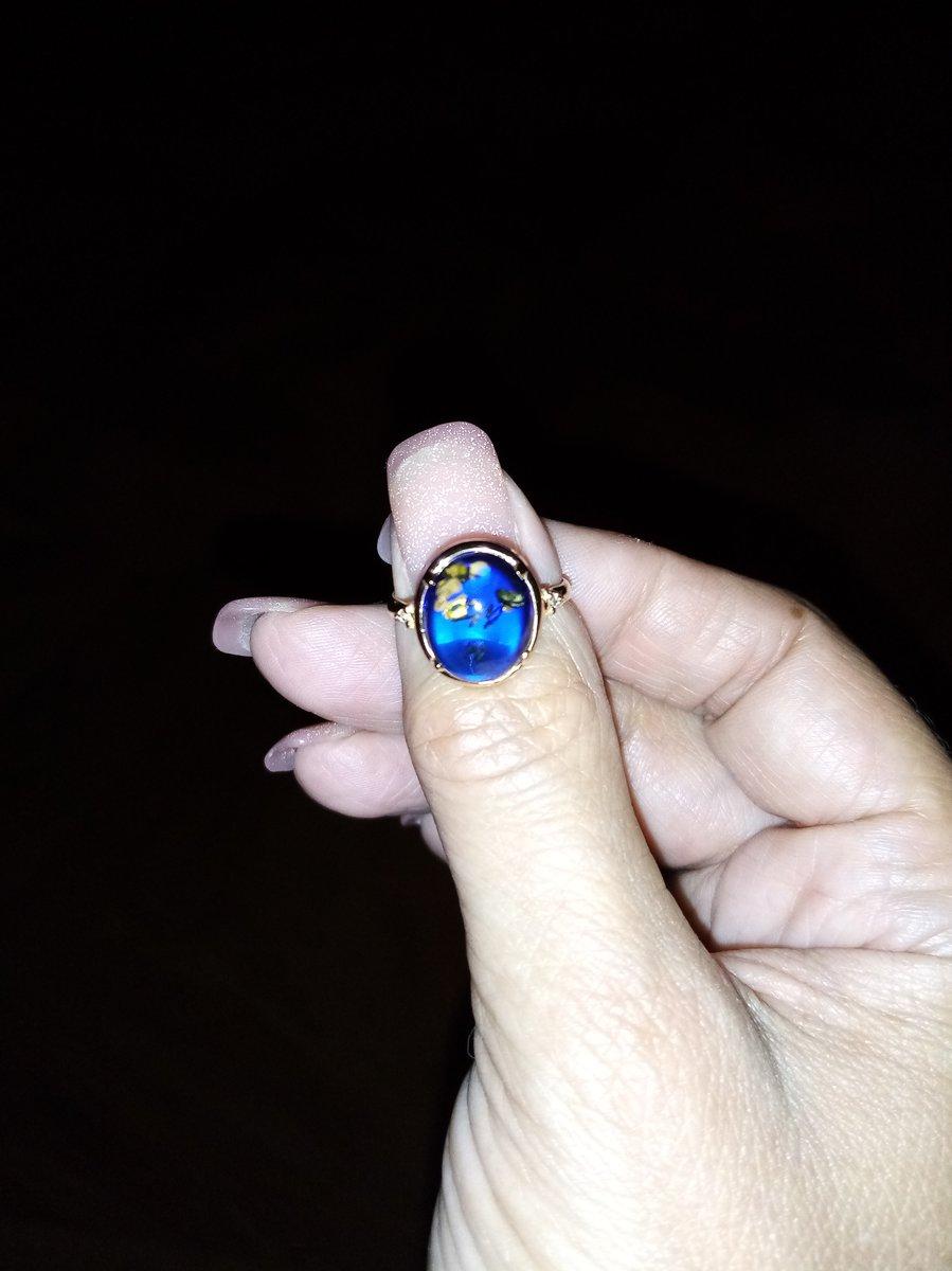 Синий натуральный янтарь