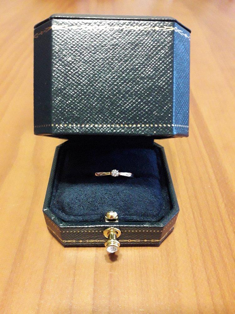 Колечко с маленьким бриллиантом