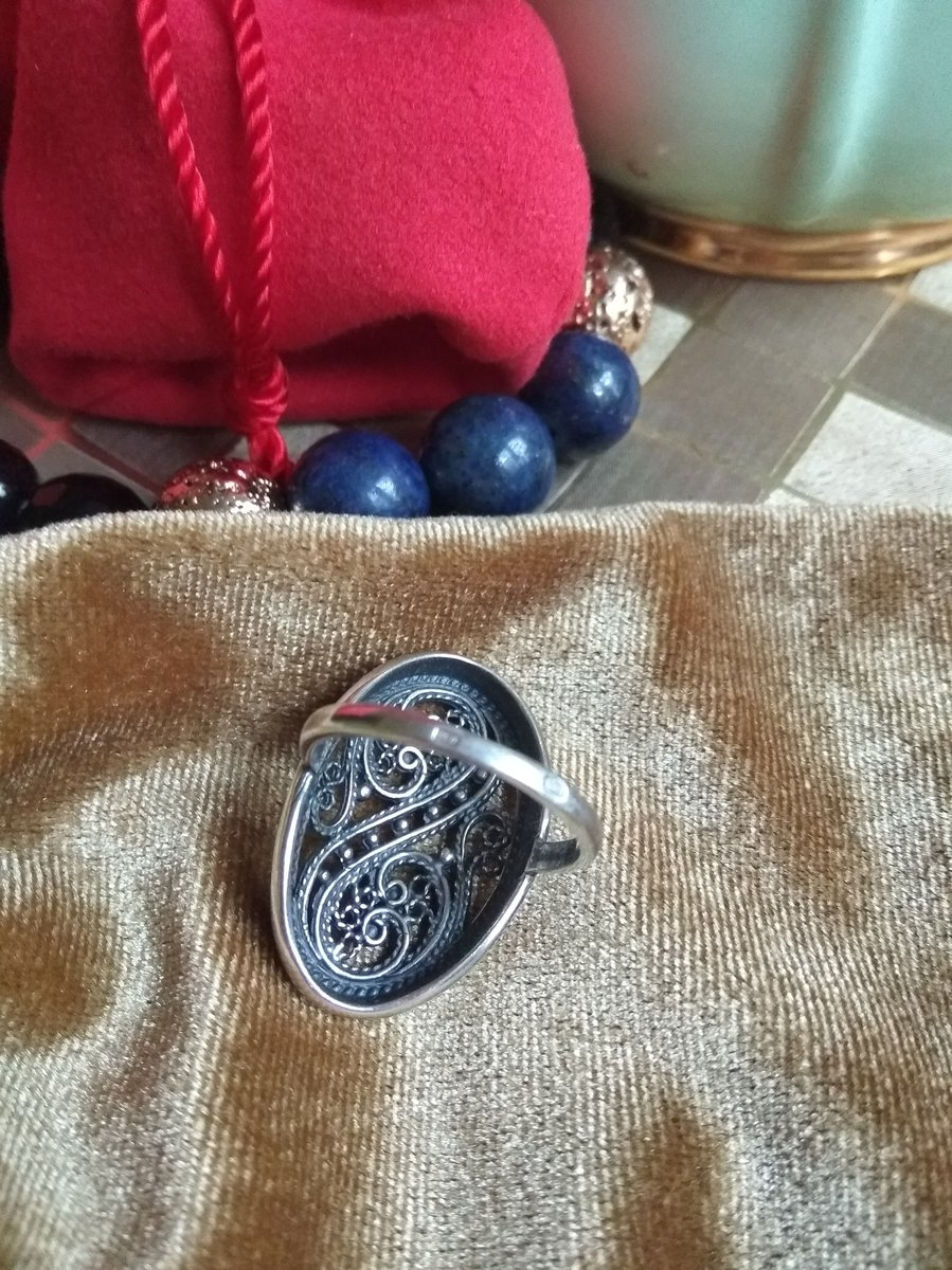 Кольцо для души, серебро.