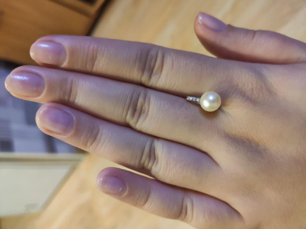 Жемчуг с бриллиантами